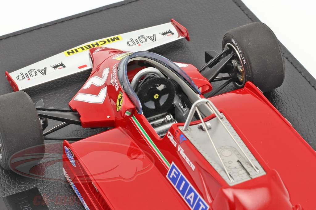 Gilles Villeneuve Ferrari 126CK #27 formule 1 1981 Avec Vitrine 1:18 GP Replicas