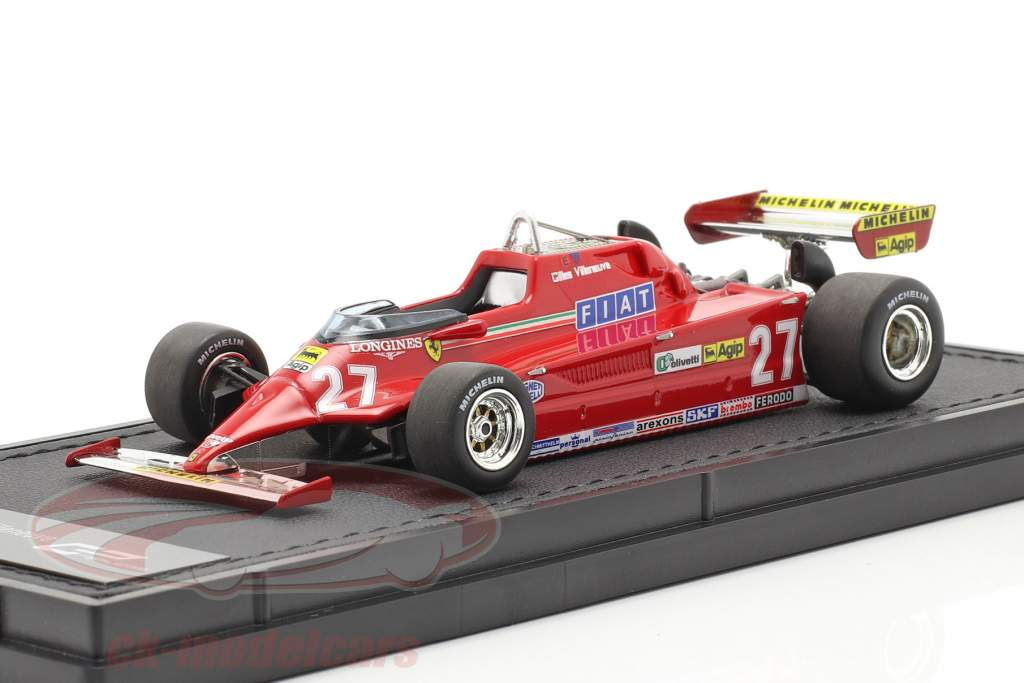 Gilles Villeneuve Ferrari 126CK #27 formula 1 1981 1:43 GP Replicas