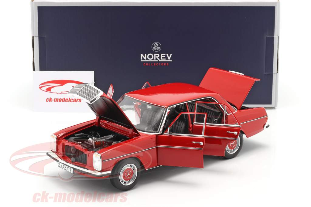 Mercedes-Benz 200/8 (W115) serie 2 Anno di costruzione 1973 rosso 1:18 Norev