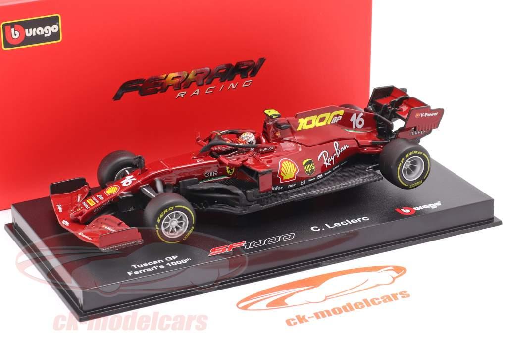 C. Leclerc Ferrari SF1000 #16 1000ste GP Ferrari Toscane GP F1 2020 1:43 Bburago