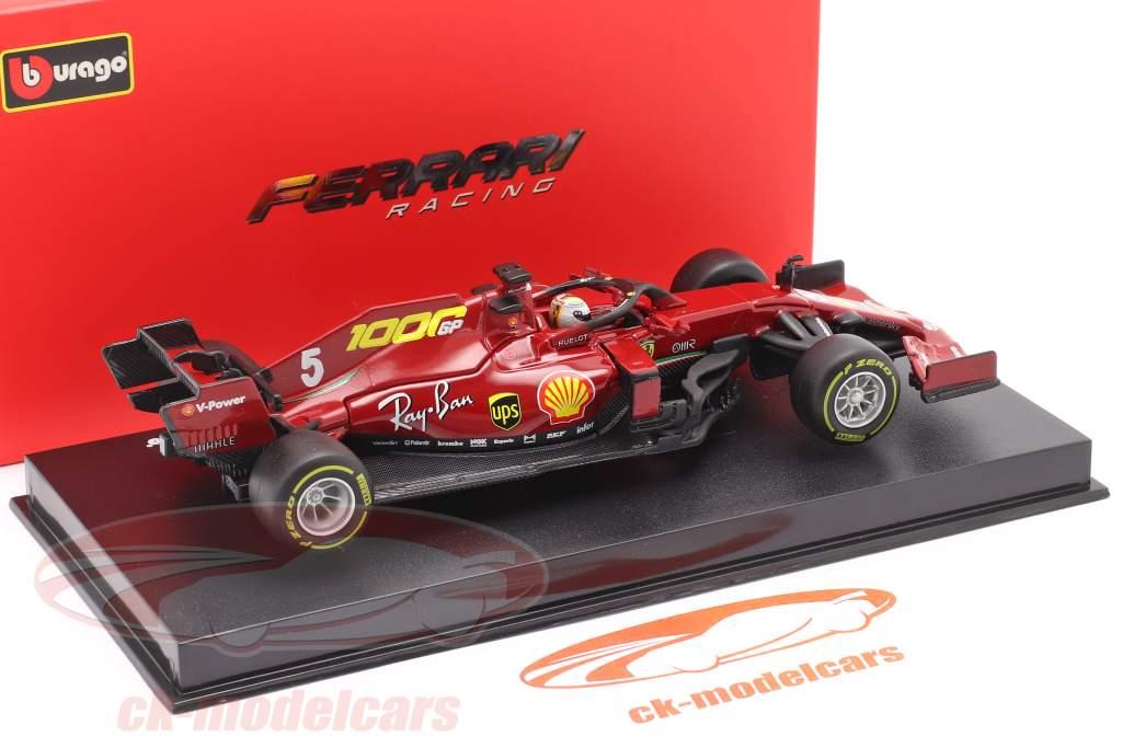 S. Vettel Ferrari SF1000 #5 1000ste GP Ferrari Toscane GP F1 2020 1:43 Bburago