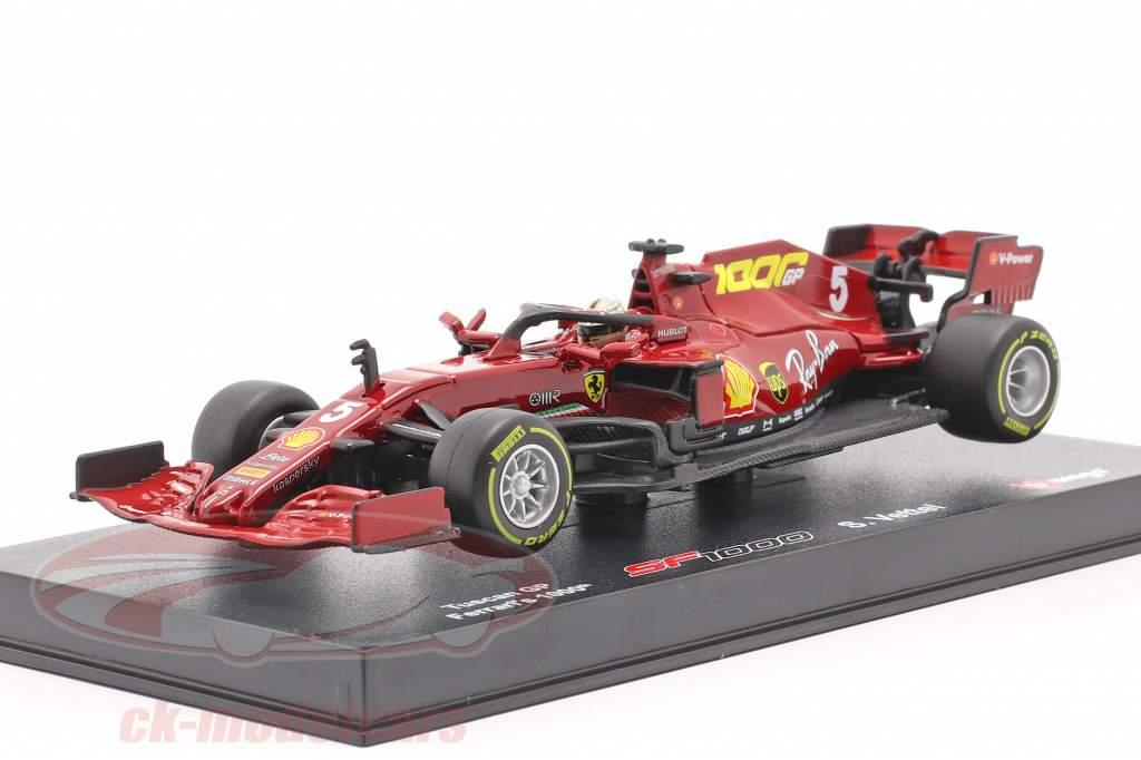 S. Vettel Ferrari SF1000 #5 1000e GP Ferrari Toscane GP F1 2020 1:43 Bburago
