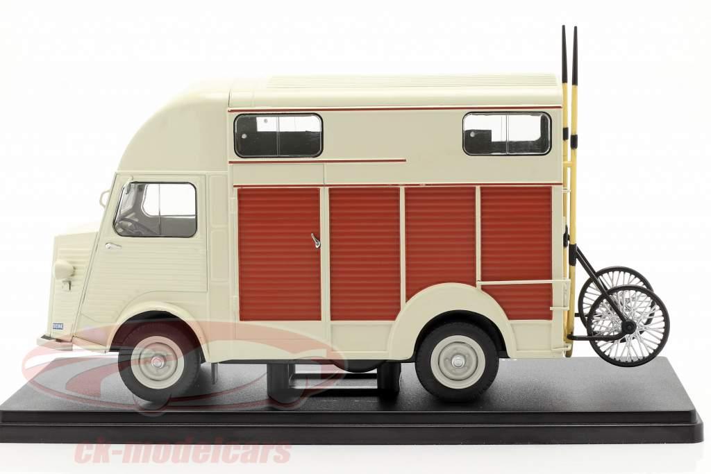 Citroen Type H versión camioneta Heuliez beige 1:24 Hachette