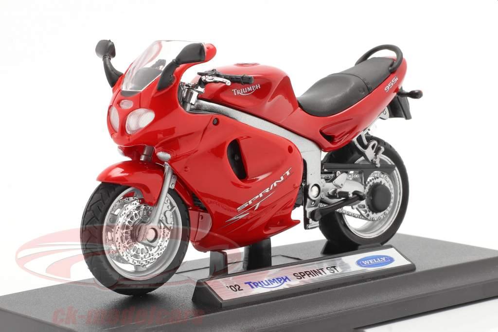 Triumph Sprint ST Baujahr 2002 rot 1:18 Welly