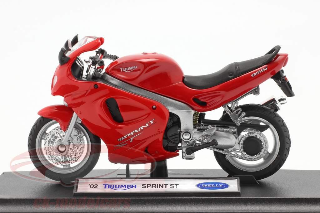 Triumph Sprint ST Ano de construção 2002 vermelho 1:18 Welly