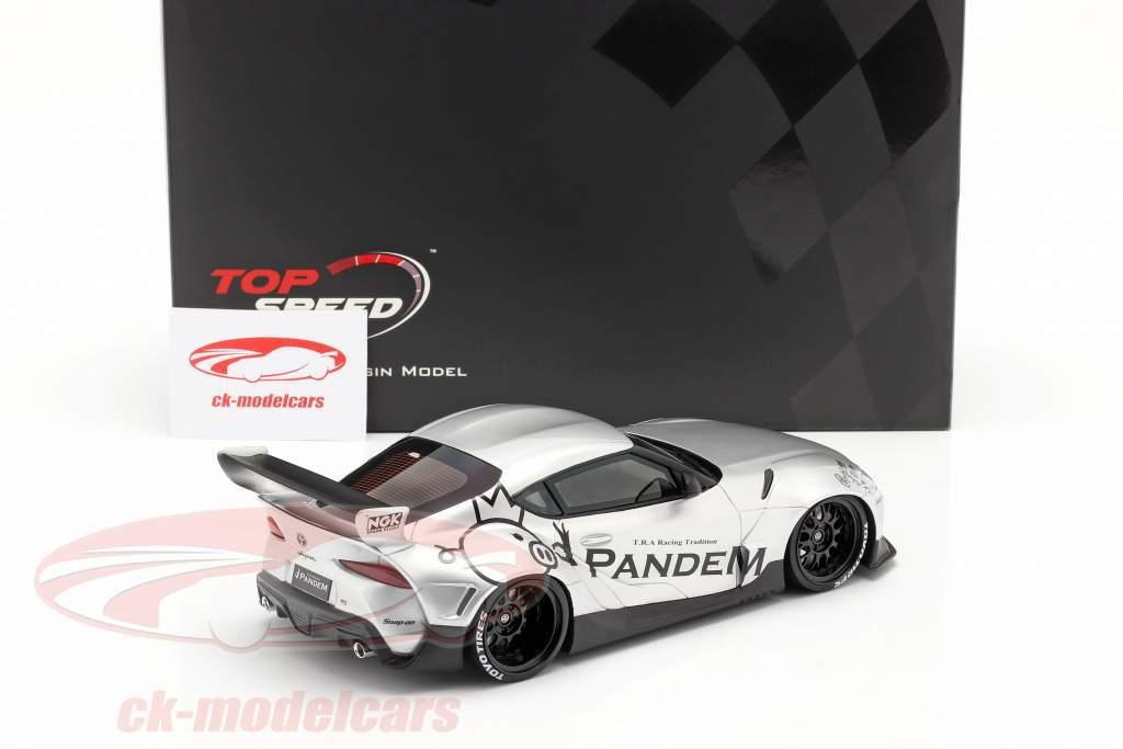 Pandem Toyota GR Supra V1.0 Anno di costruzione 2020 argento 1:18 TrueScale