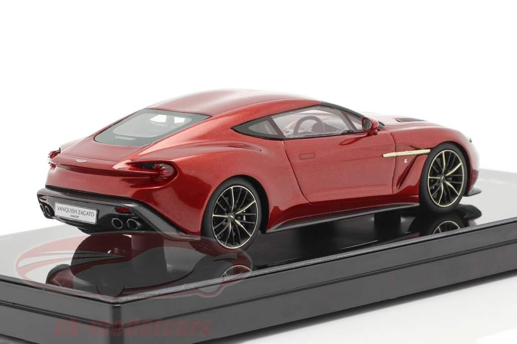 Aston Martin Vanquish Zagato Bouwjaar 2016 lava rood 1:43 TrueScale