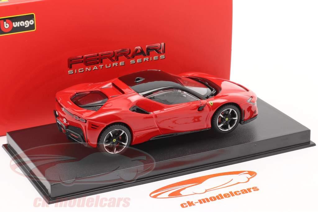 Ferrari SF90 Stradale Bouwjaar 2019 rood 1:43 Bburago Signature