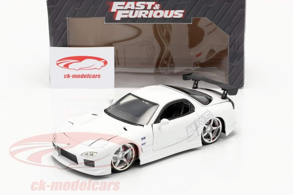 Mazda RX-7 1993 Fast & Furious hvid 1:24 Jada Toys