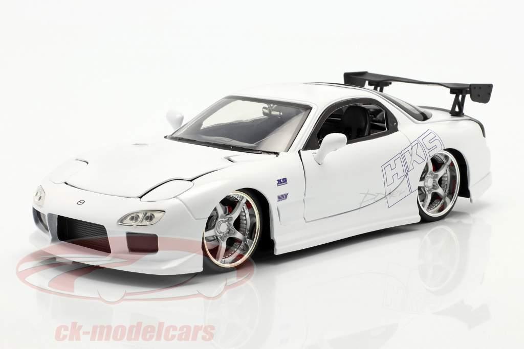 Mazda RX-7 1993 Fast & Furious bianca 1:24 Jada Toys