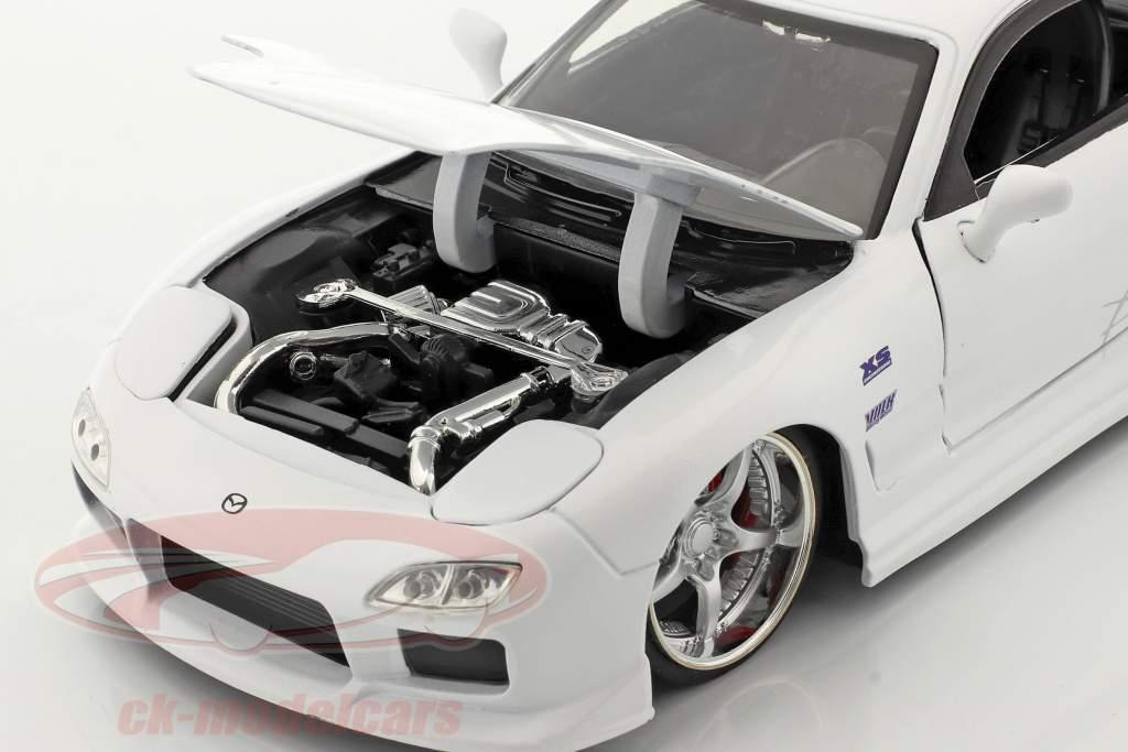 Mazda RX-7 1993 Fast & Furious blanco 1:24 Jada Toys