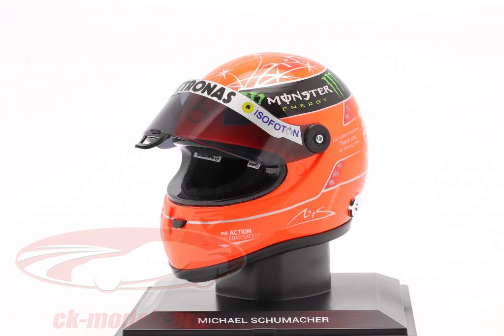 M. Schumacher Mercedes W03 Last Race Sao Paulo fórmula 1 2012 casco 1:4 Schuberth