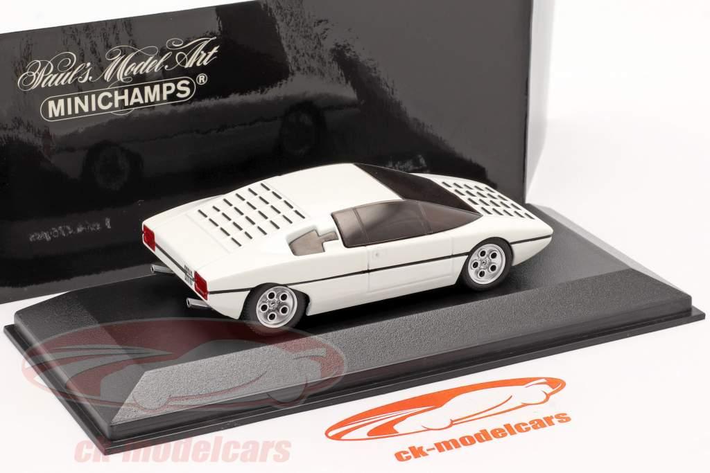 Lamborghini Bravo Baujahr 1974 umlackiert 2005 white metallic 1:43 Minichamps