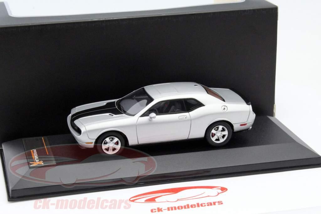 Dodge Challenger SRT8 jaar 2009 zilver / zwart 1:43 Premium X / 2e keuze