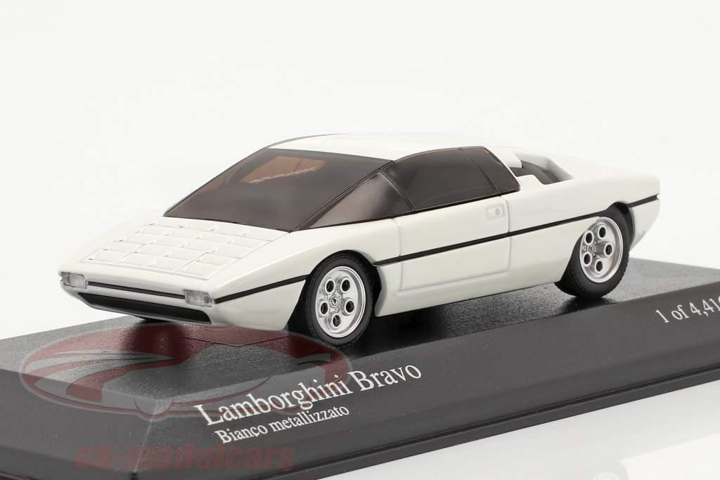 Lamborghini Bravo Anno di costruzione 1974 ridipinto 2005 bianca metallico 1:43 Minichamps