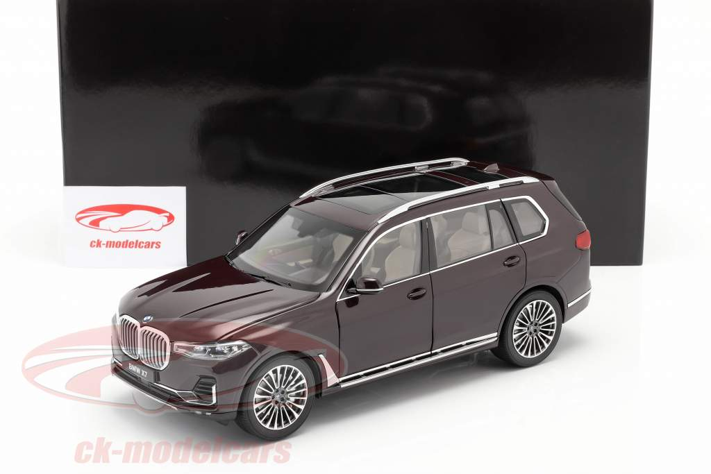 BMW X7 (G07) Bouwjaar 2019 ametrine rood metalen 1:18 Kyosho