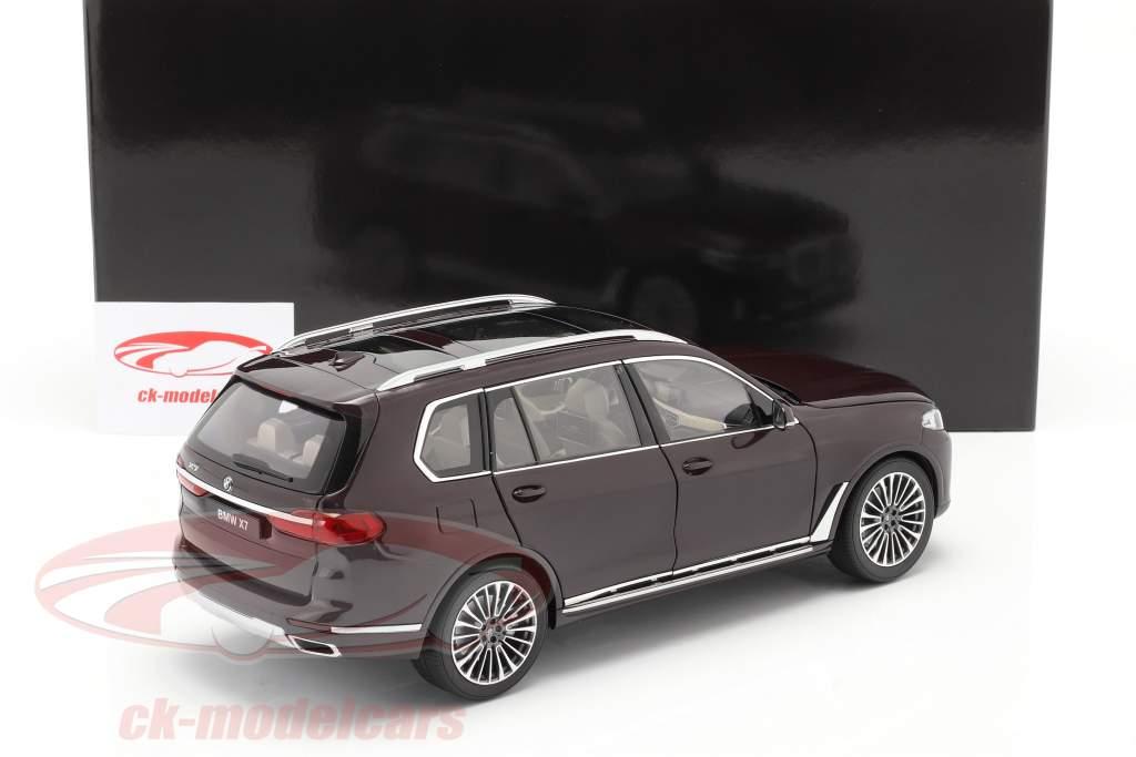 BMW X7 (G07) Anno di costruzione 2019 ametrino rosso metallico 1:18 Kyosho