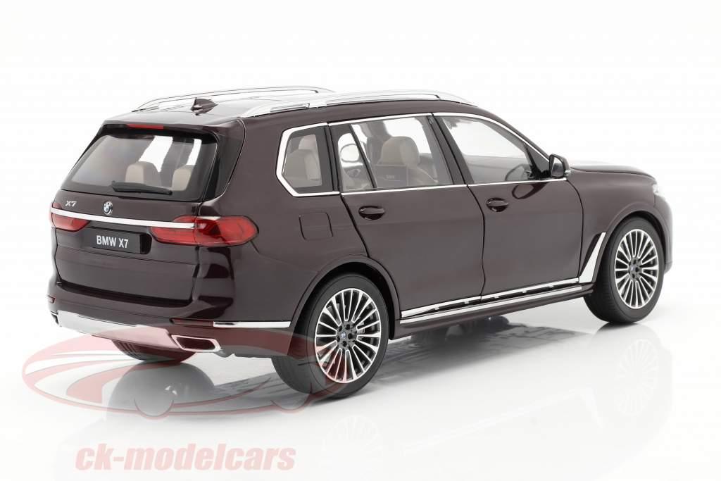 BMW X7 (G07) Année de construction 2019 amétrine rouge métallique 1:18 Kyosho