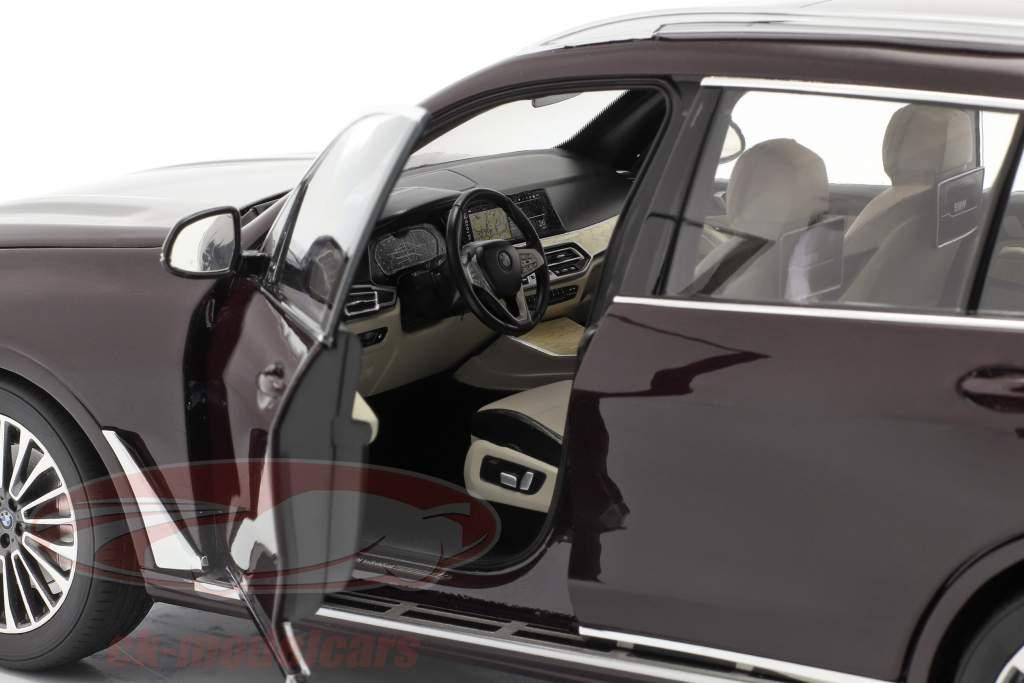 BMW X7 (G07) Año de construcción 2019 ametrina rojo metálico 1:18 Kyosho