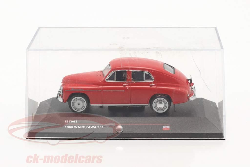Warszawa 201 Baujahr 1960 rot 1:43 Ixo IST-Models / 2. Wahl