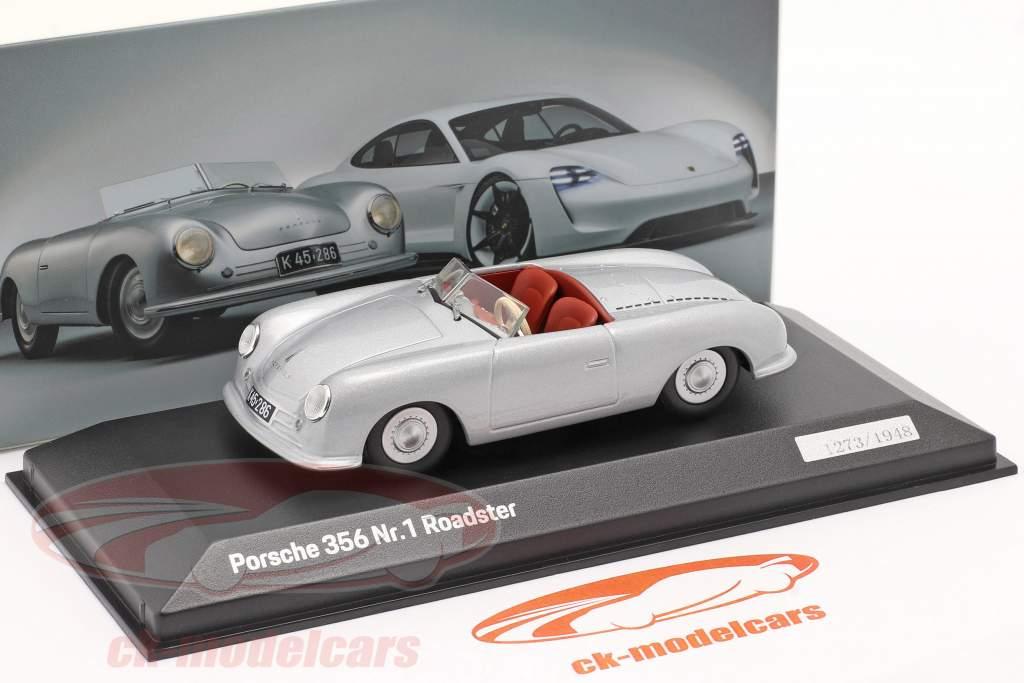 Porsche 356 Nr.1 Roadster 1948 70. Jubilæum sølv 1:43 Minichamps
