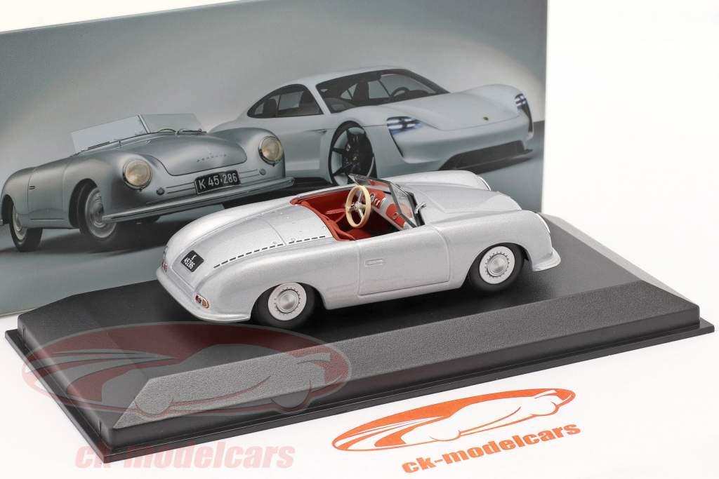 Porsche 356 Nr.1 Roadster 1948 70th Anniversary silber 1:43 Minichamps