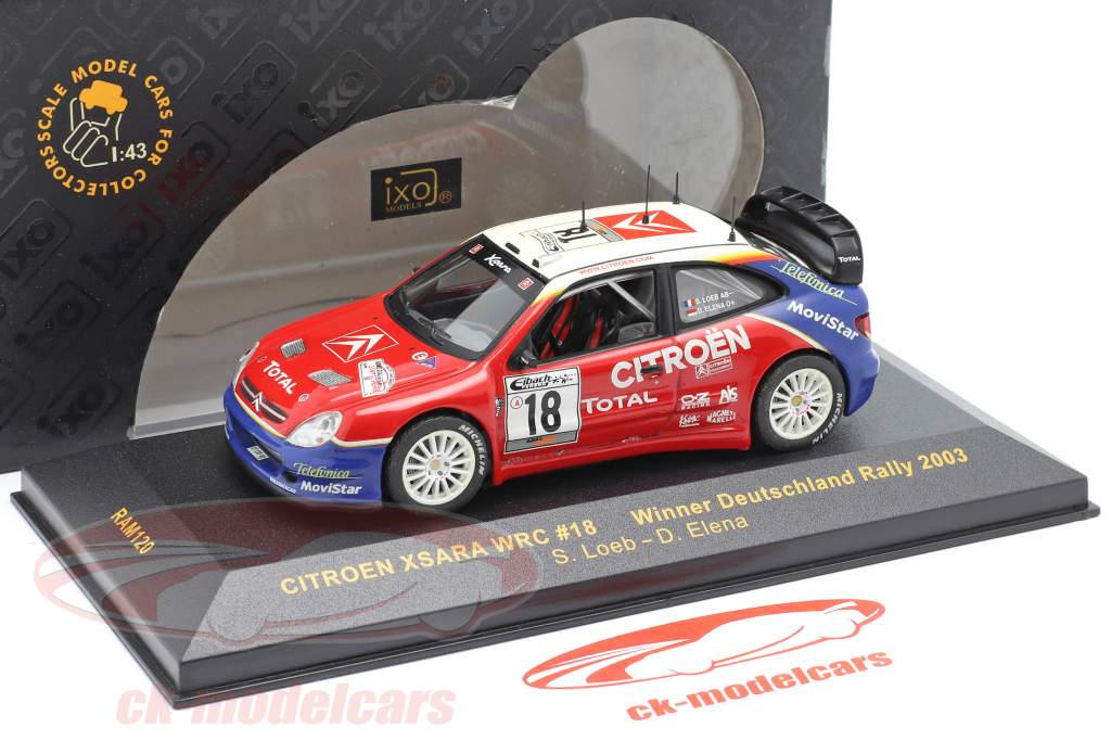 Citroen Xsara WRC #18 Winner Deutschland Rallye 2003 Loeb, Elena 1:43 Ixo / 2. Wahl