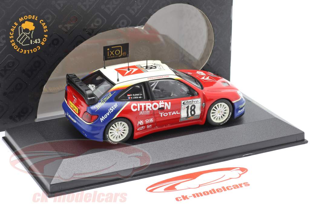Citroen Xsara WRC #18 Vinder Tyskland samle 2003 Loeb, Elena 1:43 Ixo / 2. valg