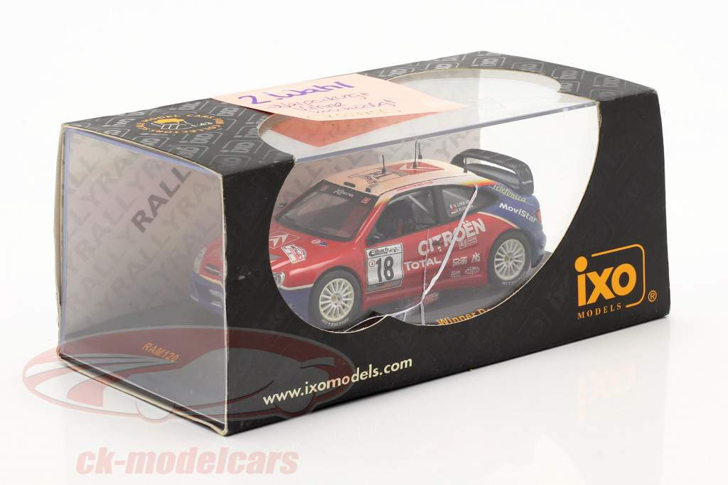 Citroen Xsara WRC #18 Ganador Alemania reunión 2003 Loeb, Elena 1:43 Ixo / 2. elección