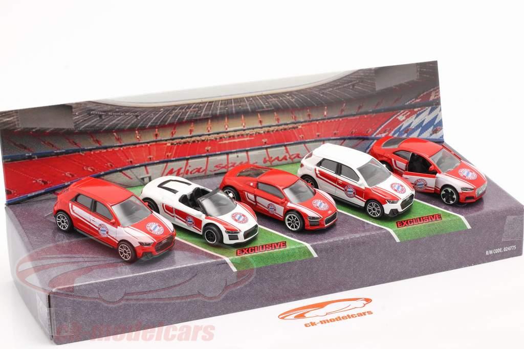 5-Car Set Audi FC Baviera Munich 1:64 Majorette