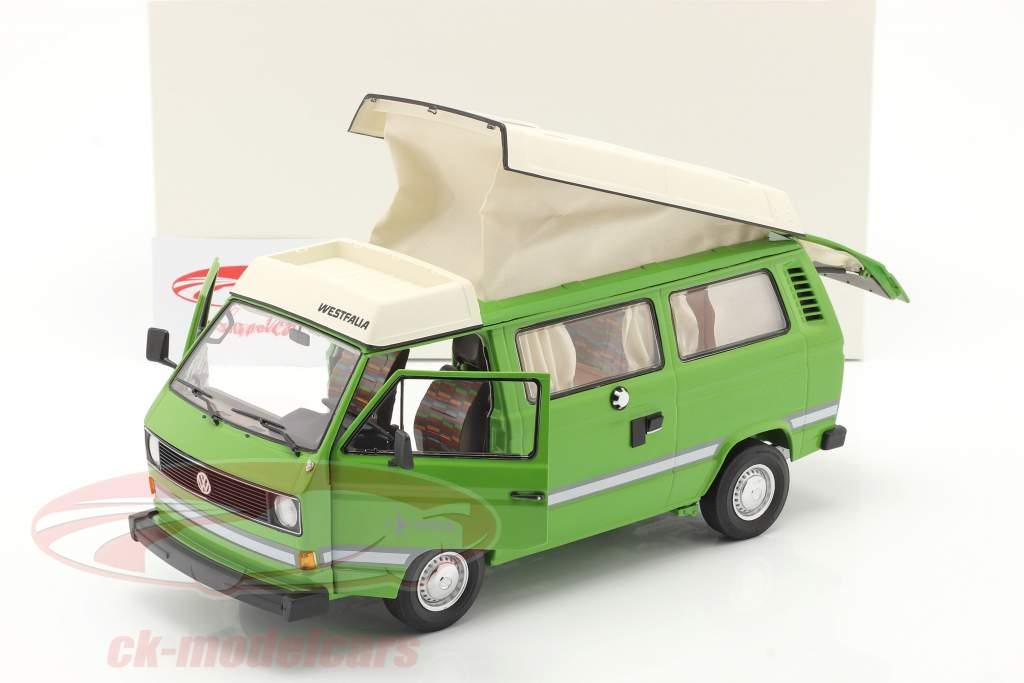 Volkswagen VW T3a Joker Camper Met Opklapbaar dak groen 1:18 Schuco