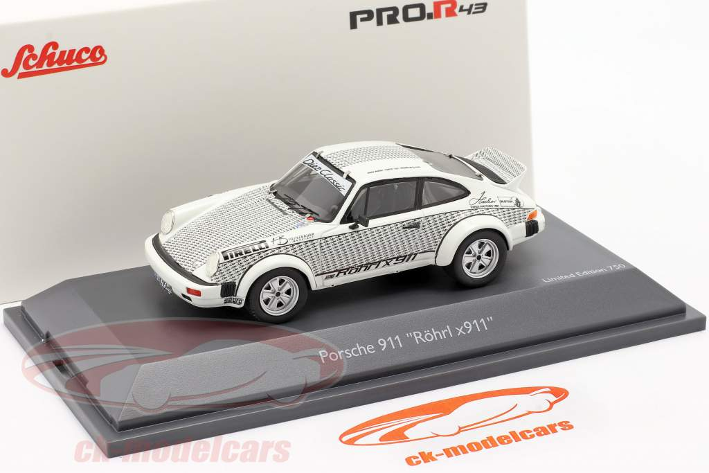 Porsche 911 Walter Röhrl x911 bianca / nero 1:43 Schuco