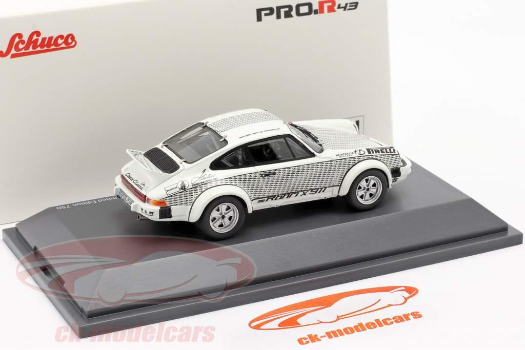 Porsche 911 Walter Röhrl x911 blanc / noir 1:43 Schuco