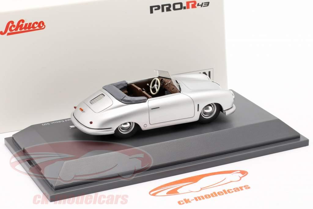 Porsche 356 Gmünd Convertible plata 1:43 Schuco