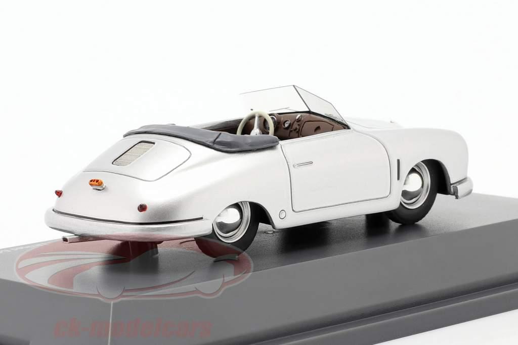 Porsche 356 Gmünd Conversível prata 1:43 Schuco