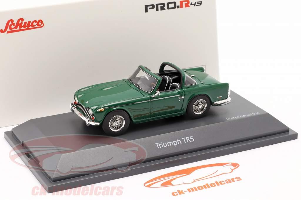 Triumph TR5 Baujahr 1967-68 british racing grün 1:43 Schuco