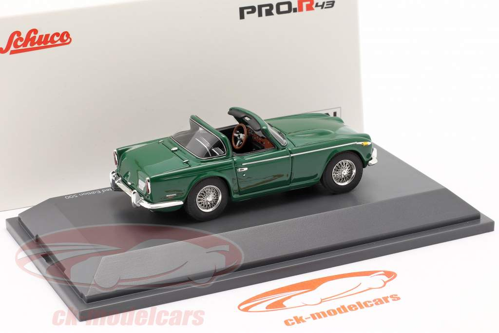 Triumph TR5 Anno di costruzione 1967-68 british racing verde 1:43 Schuco