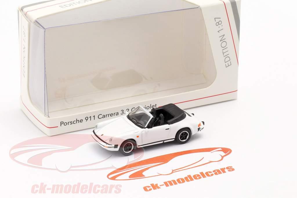 Porsche 911 Carrera 3.2 Conversível Branco 1:87 Schuco