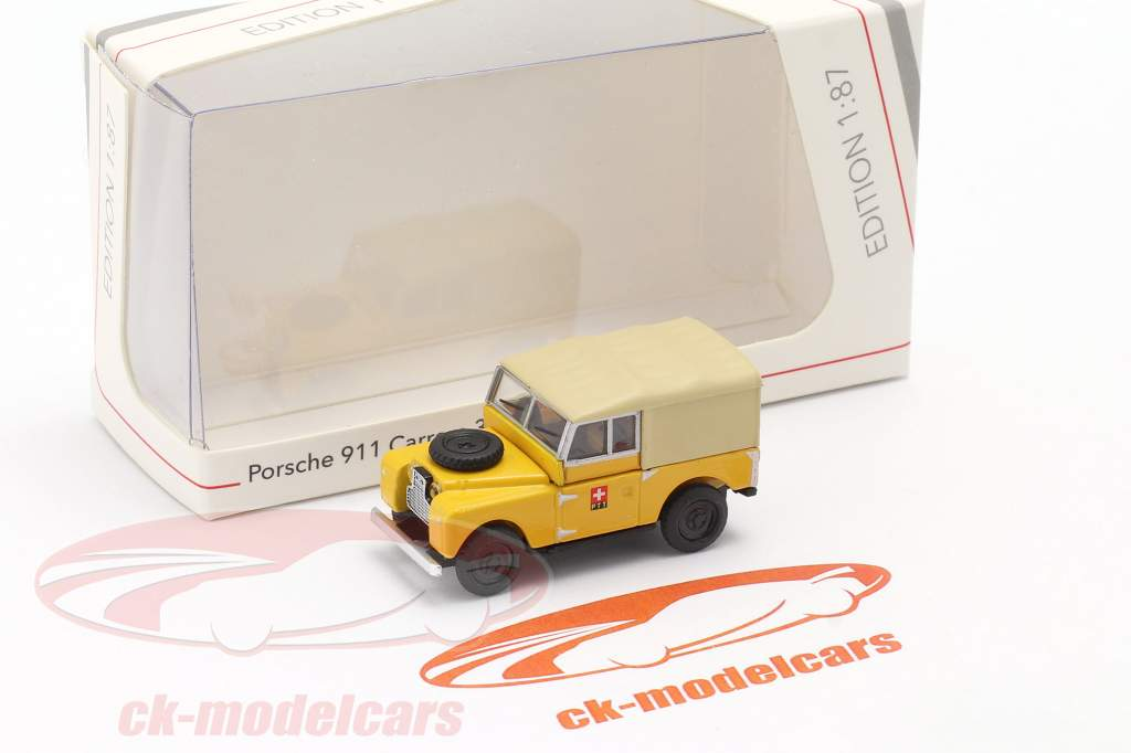 Land Rover 88 PTT giallo 1:87 Schuco