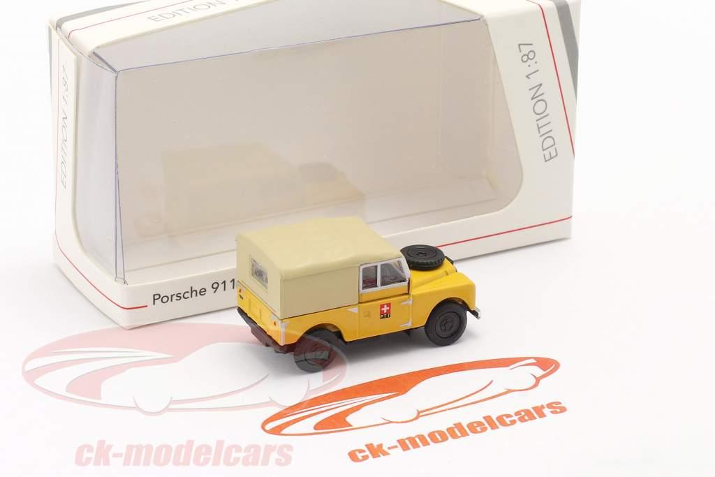 Land Rover 88 PTT gul 1:87 Schuco
