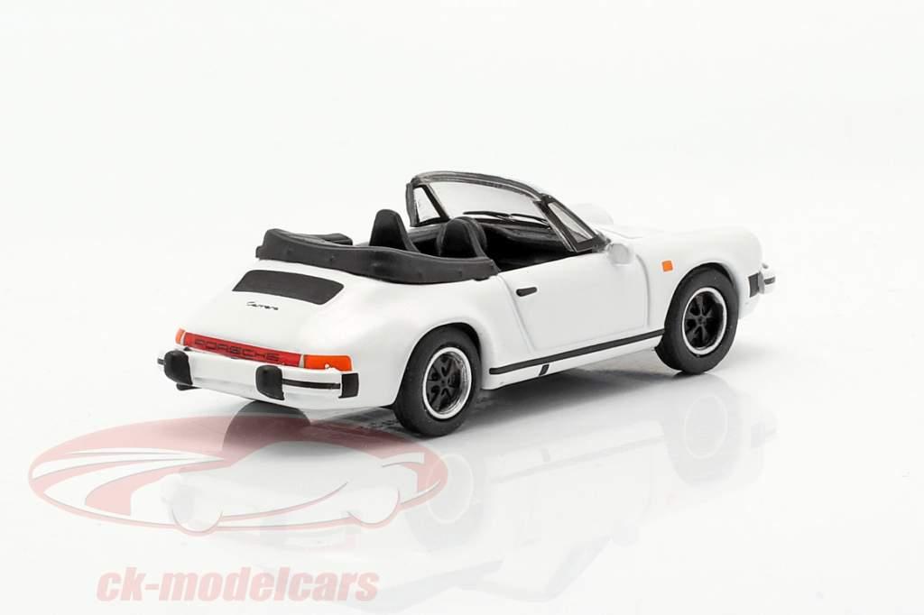 Porsche 911 Carrera 3.2 Convertible blanco 1:87 Schuco