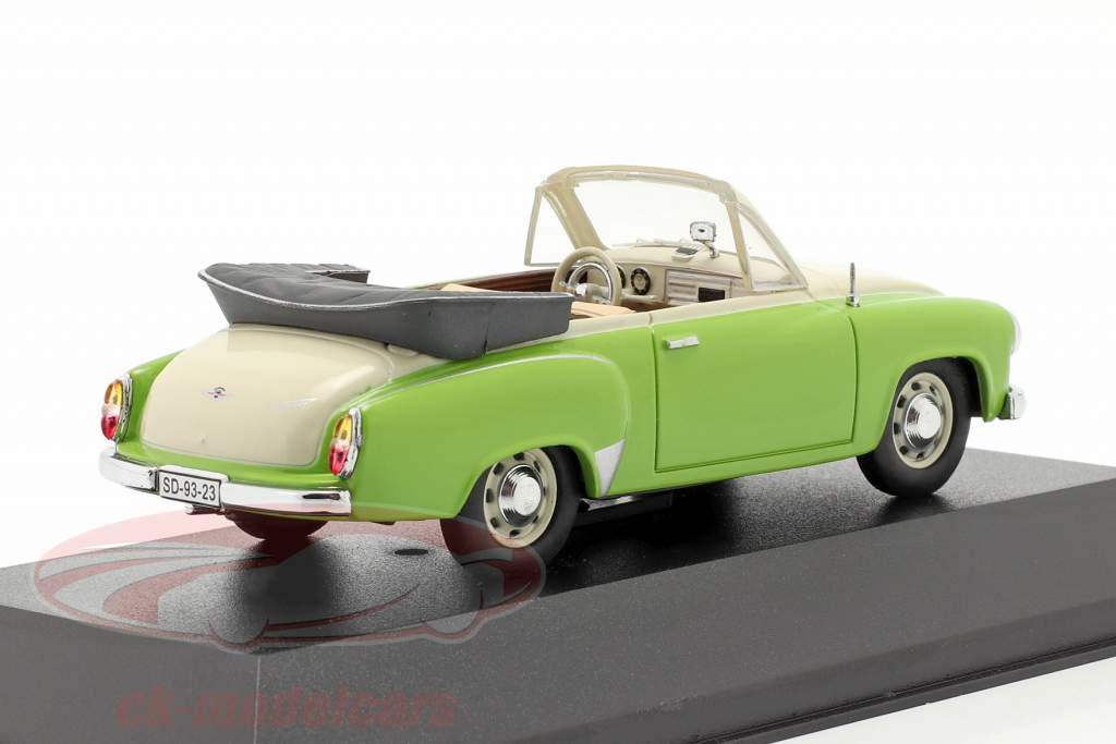 Wartburg 311 Cabrio year 1959 green / creamy white 1:43 IST-Models