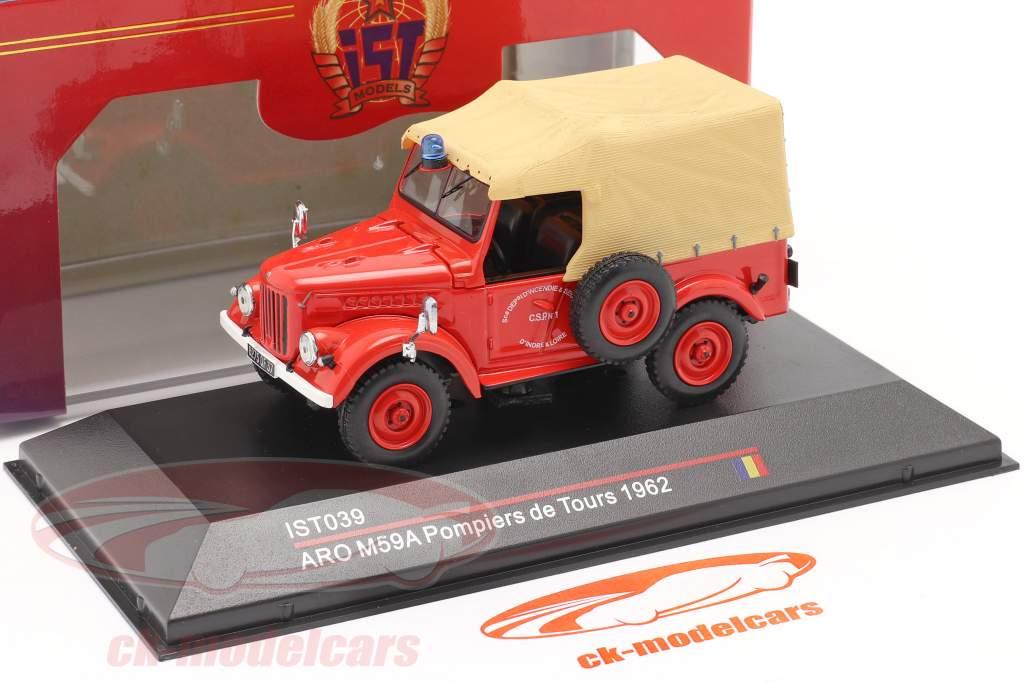ARO M59A Feuerwehr Baujahr 1962 rot / beige 1:43 IST-Models