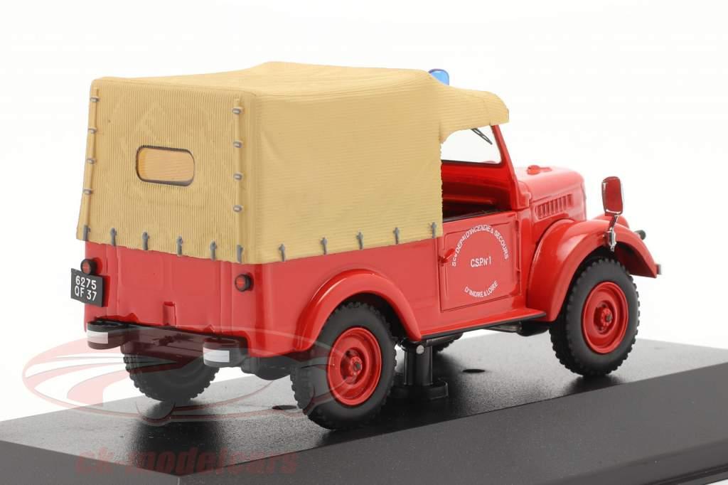 ARO M59A brand afdeling jaar 1962 rood / beige 1:43 IST-Models