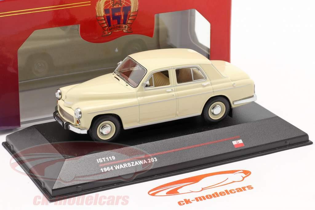 Warszawa 203 anno 1964 beige 1:43 IST-Models