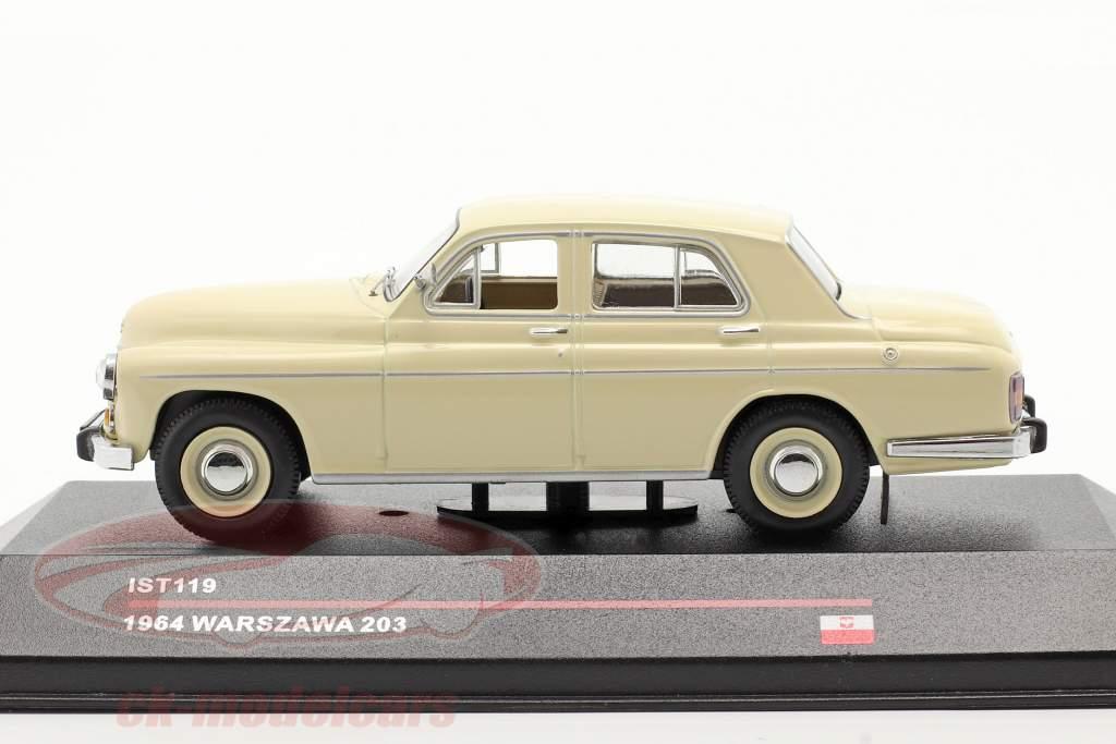 Warszawa 203 year 1964 beige 1:43 IST-Models