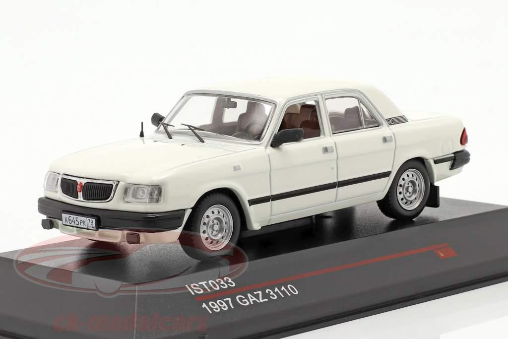 GAZ 3110 ano 1997 Branco 1:43 IST-Models