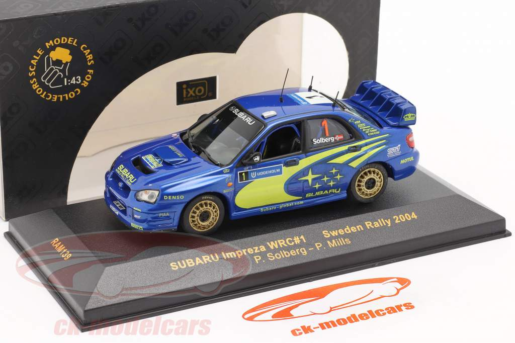 Subaru Impreza WRC #1 rally Svezia 2004 Solberg, Mills 1:43 Ixo