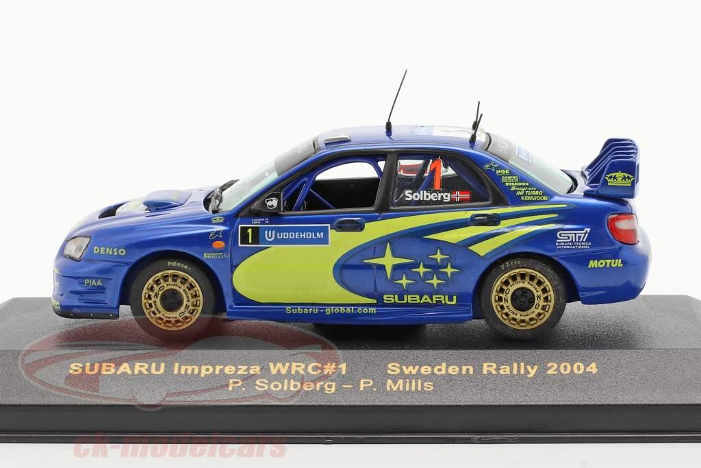 Subaru Impreza WRC #1 se rallier Suède 2004 Solberg, Mills 1:43 Ixo