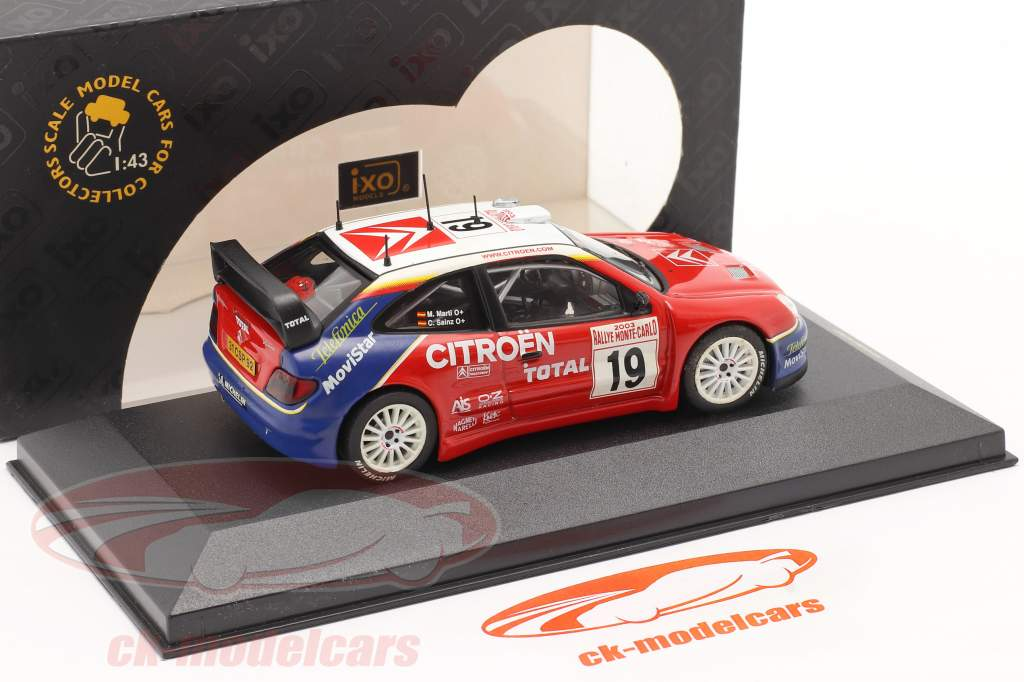 Citroen Xsara WRC #19 se rallier Monte Carlo 2003 Sainz, Marti 1:43 Ixo